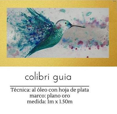 Cuadro pintado al Oleo modelo Colibri Guia
