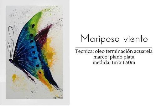 Cuadro pintado al Oleo modelo Mariposa Viento