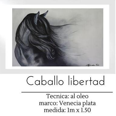 Cuadro pintado al Oleo modelo Caballo Libertad