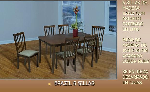 Comedor Brazil 6 Sillas