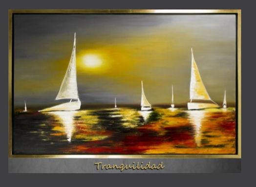 Cuadro pintado al Oleo, modelo Tranquilidad