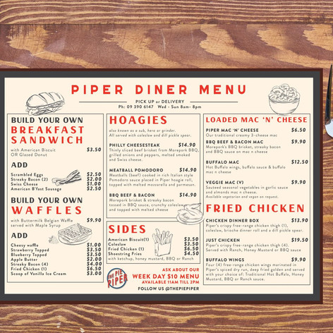 Illustrated menu