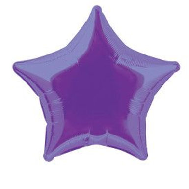 "Balloon Foil 20"" Star Violet"