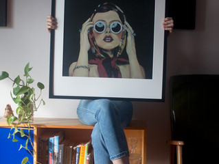 FRAMED PRINT_be public in the now collection