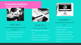 Brochure de présentation des services proposés par Coachévolutions.