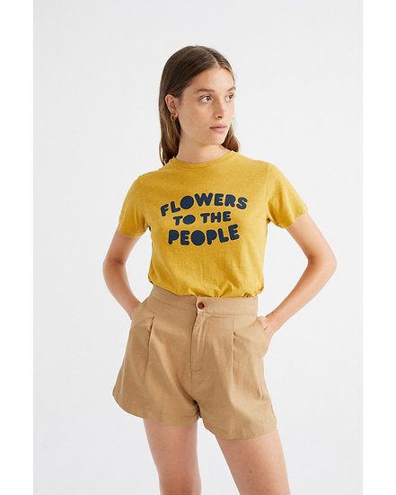 T-Shirt Flowers To The People - THINKING MU