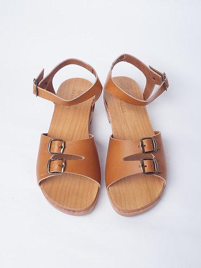 Sandales RITA bois naturel - MASSALIA