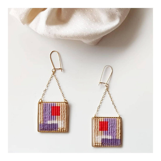 Boucles d'oreille Geometric Square - CAMOOMILLE