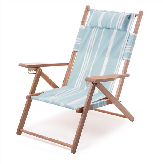 Chaise longue TOMMY Vintage Blue Stripes - BUSINESS & PLEASURE