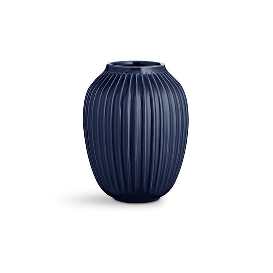 Vase Hammershoi H250 bleu indigo - Kähler