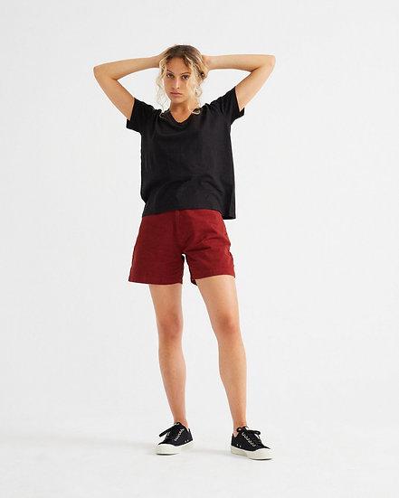 T-Shirt Black Hemp Clavel - THINKING MU