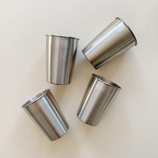 Lot de 4 tasses réutilisables en acier - HAPS NORDIC