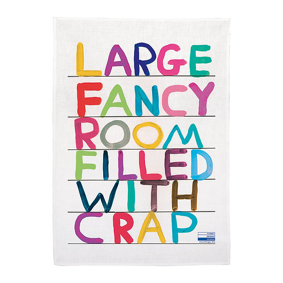 "Torchon "" Large Fancy Room "" - David Shrigley"