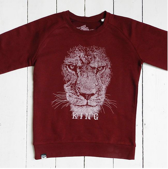Sweat-shirt Lion LION OF LEISURE - Merci Marius x I Live Bio