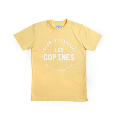T-shirt jaune Les copines