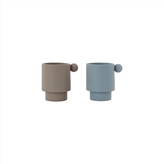 Set de tasses TINY INKA Bleu/Gris - OYOY Living Design