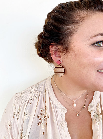 Boucles d'oreilles MIRA - Ame Wood Creations