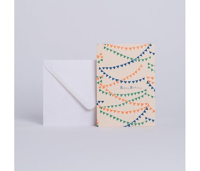 "Carte Paper chains ""Happy Birthday"" - SEASON PAPER"