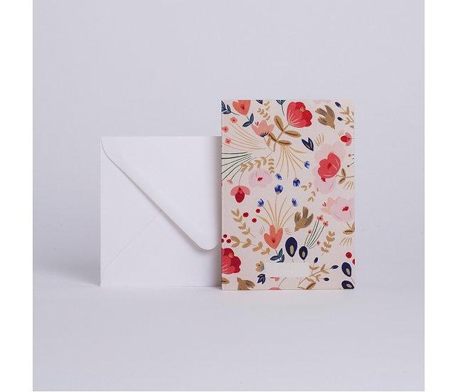 Carte à message Fleurs Folk - SEASON PAPER