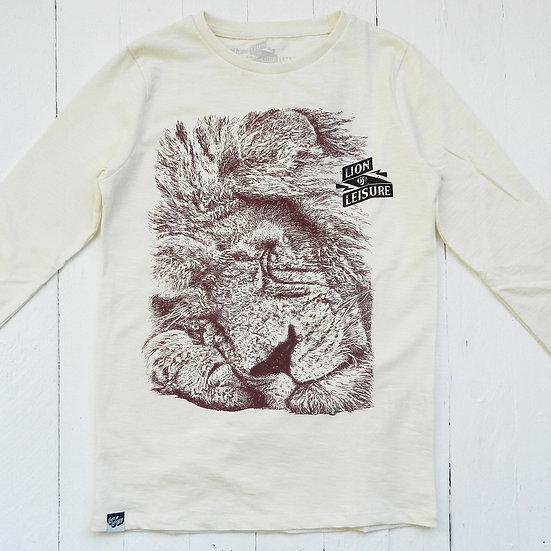 T-shirt manches longues Lion - LION OF LEISURE - Merci Marius x I Live Bio