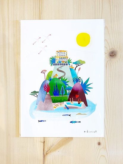 Affiche Hôtel Le Provençal - Eric Giriat
