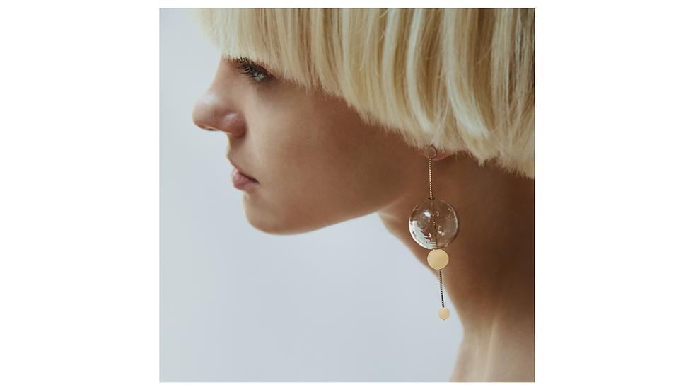 Boucles d'oreilles Glassy Orbit - Annika Inez