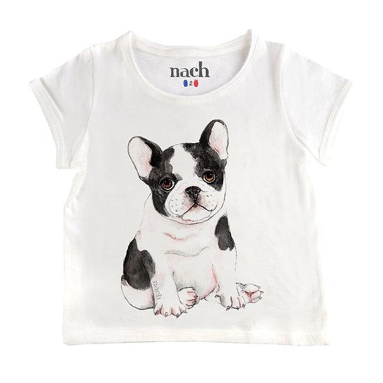 T-shirt Bulldog NACH - Merci Marius x I live bio