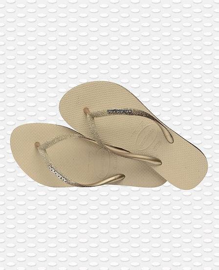 Slim Sparkle II Sand Grey - HAVAIANAS