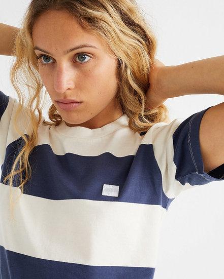 T-Shirt Navy Stripes - THINKING MU