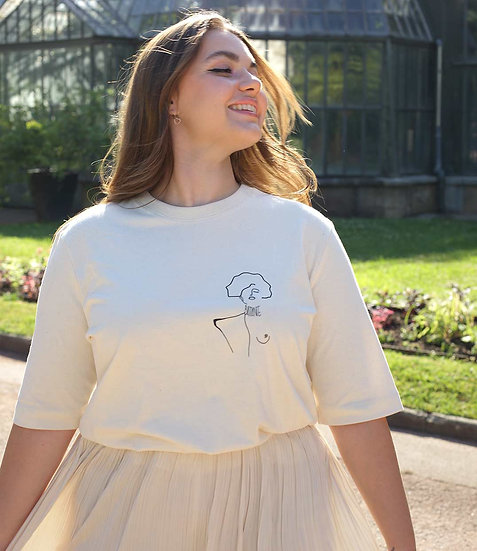T-shirt Klimt beige - LEONOR ROVERSI