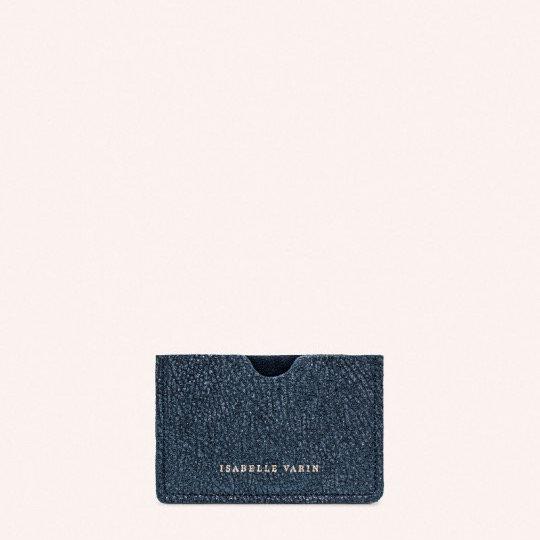 Porte-cartes CREDY Caviar Blue - ISABELLE VARIN