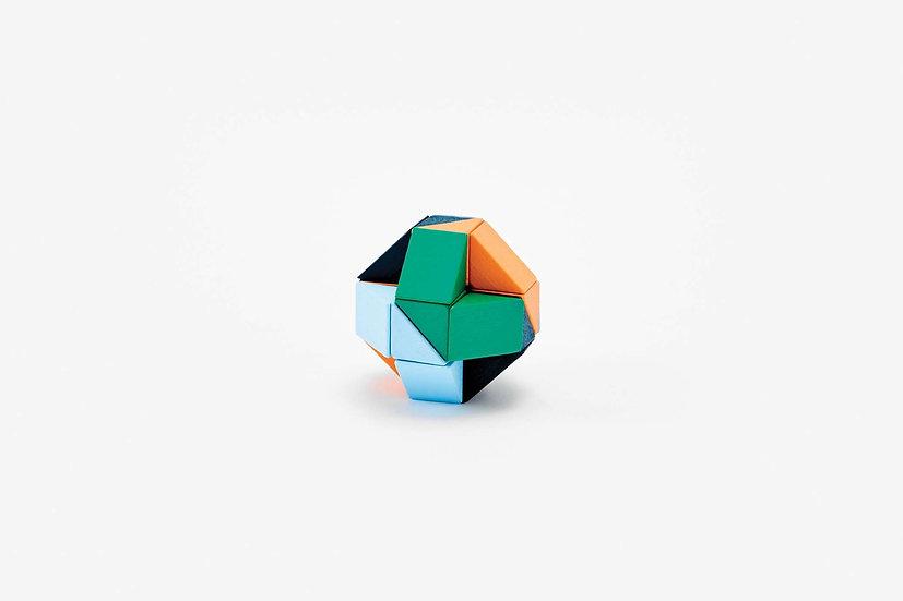 Snake Block Small Orange bleu - Areaware