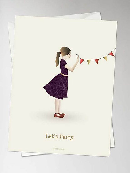 Carte de voeux Let's Party - Vissevasse