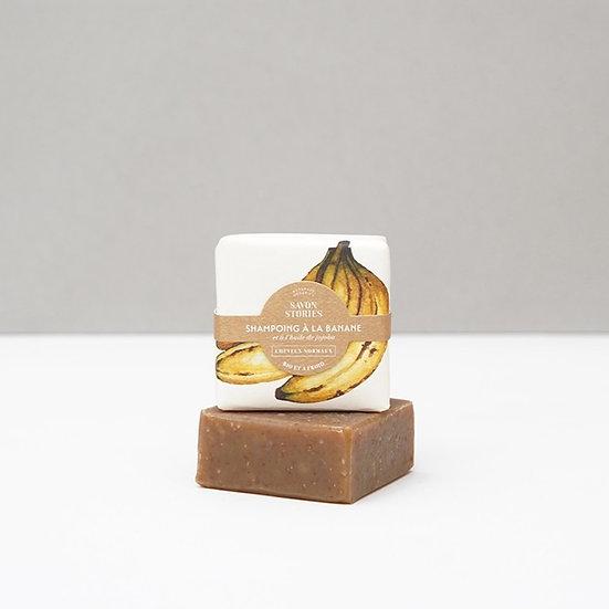 Shampoing solide bio à la banane - SAVON STORIES