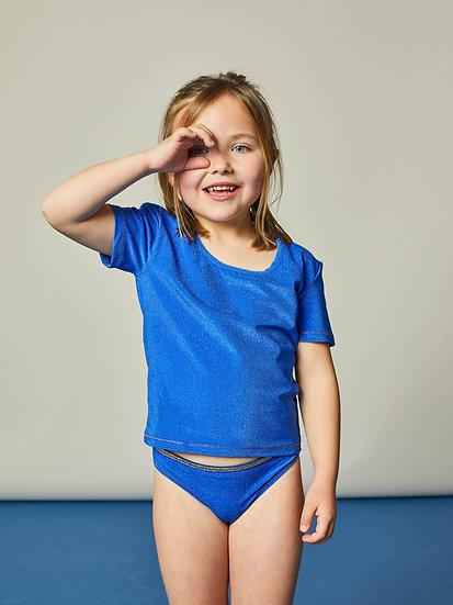 T-shirt ALFREDO Blue Sponge - LA NOUVELLE