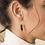 Thumbnail: Boucles d'oreilles 3 Drop XS Hoop Yellow - SIDAI DESIGNS
