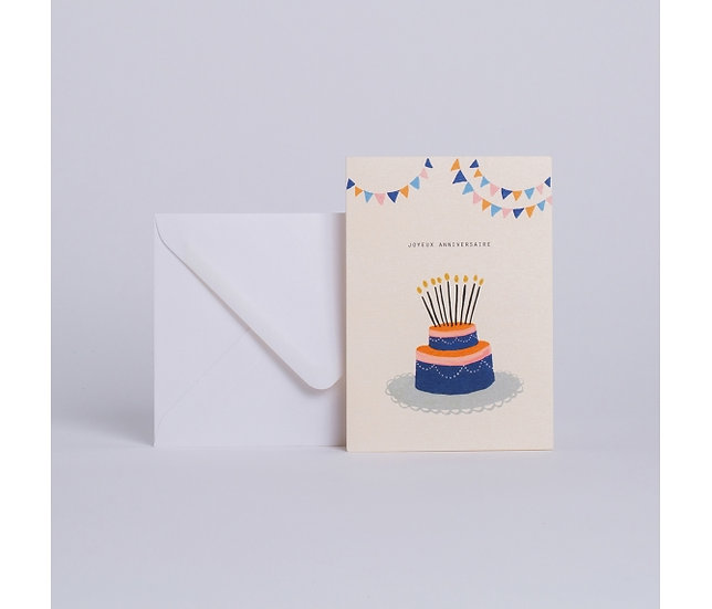 "Carte Cake ""Joyeux anniversaire"" - SEASON PAPER"
