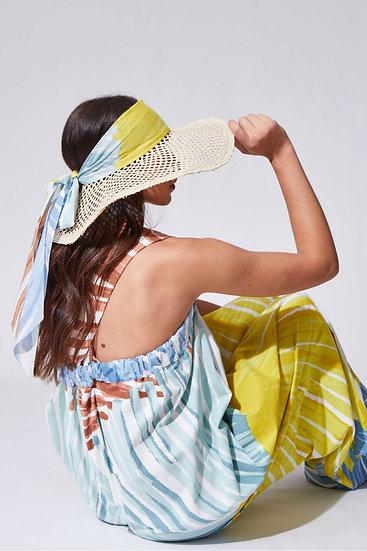 Chapeau à visière OMBRAGE Lime - MAPOESIE