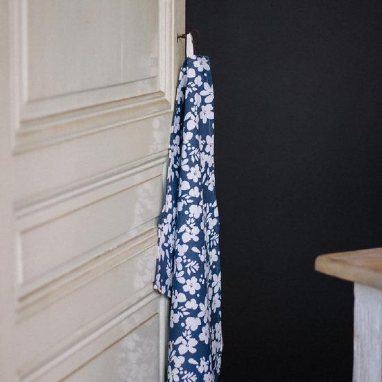Torchon fleurs blanches - LES PENSIONNAIRES