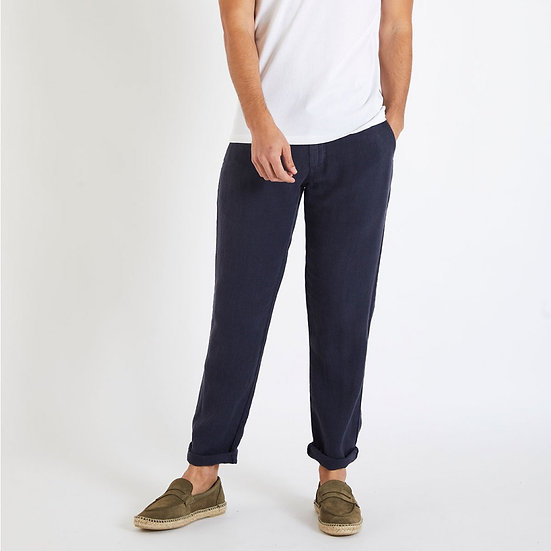 Pantalon en lin marine - CALA