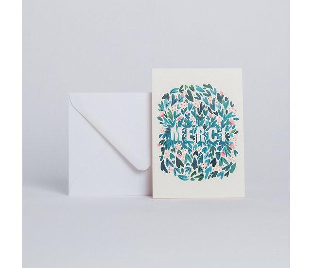 "Carte Feuillages ""Merci"" - SEASON PAPER"