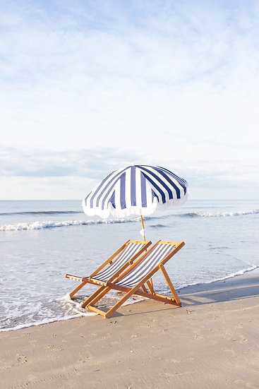 Parasol HOLIDAY rayé bleu - BUSINESS & PLEASURE