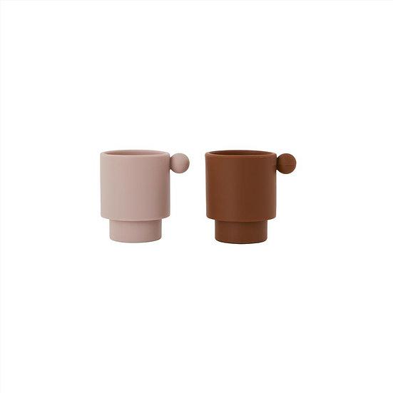 Set de tasses TINY INKA Caramel/Rose - OYOY Living Design