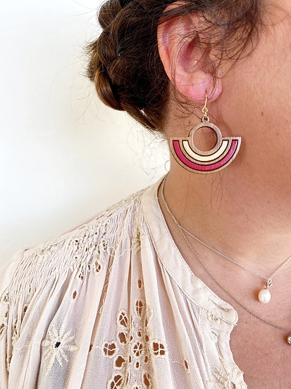 Boucles d'oreilles CLEOPATRA - Ame Wood Creations