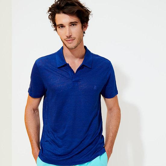 Polo PYRAMID Bleu batik - VILEBREQUIN