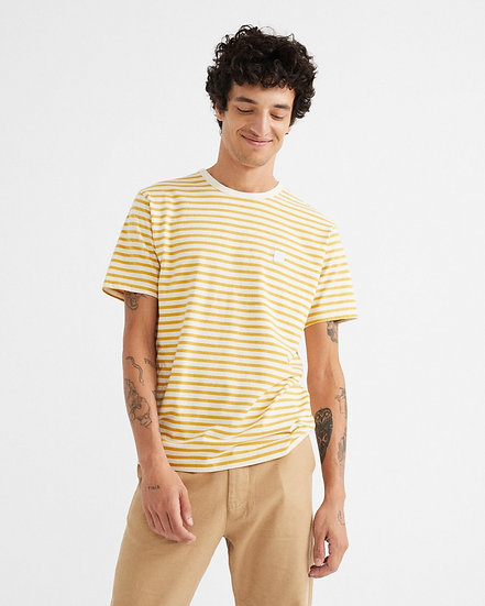 T-shirt Stripes Mustard - THINKING MU