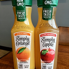 Orange or Apple Juice
