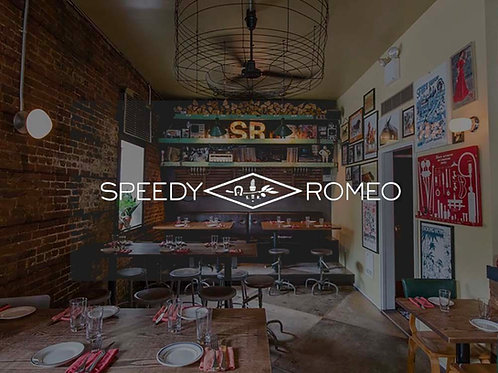 2 virtual Martinis at Speedy Romeo's