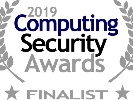 Finalist in Computing Security Awards 2019!!