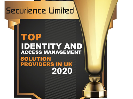 """Securience in """"Top Identity Management Solution Providers in UK"""" 2020 - CIOReview Magazine"""